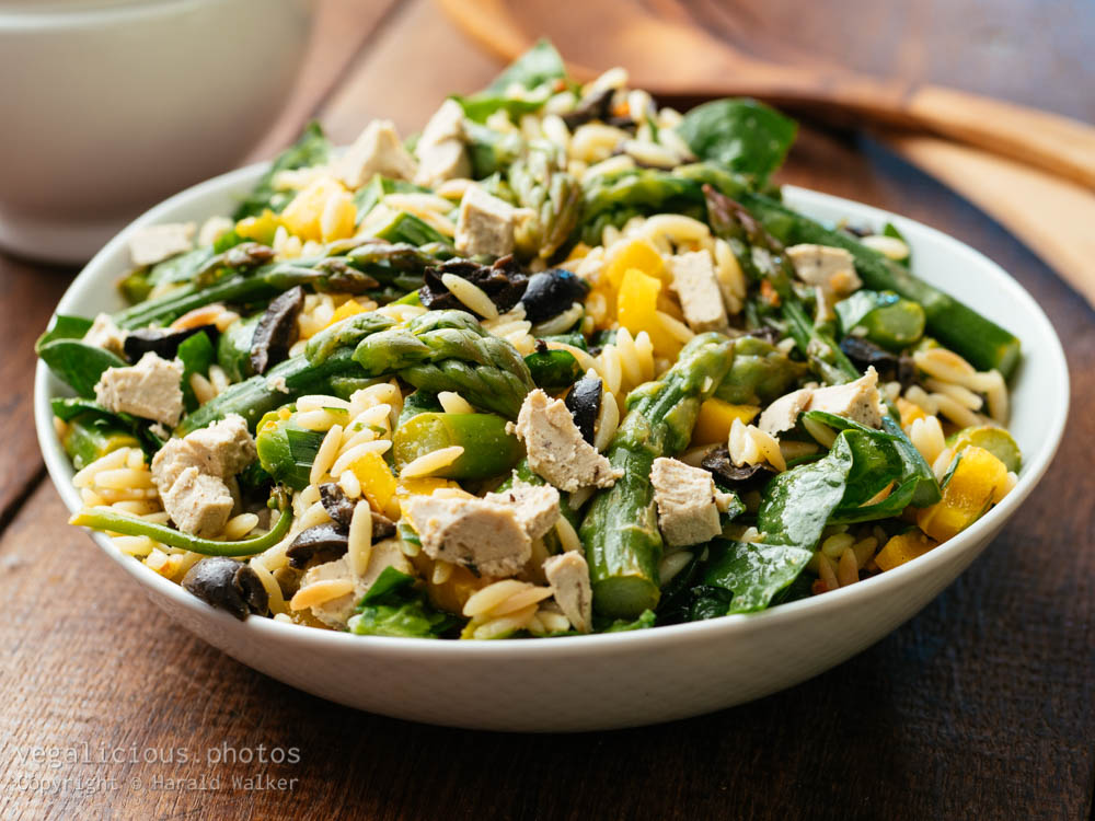 Stock photo of Asparagus, Spinach Orzo Salad