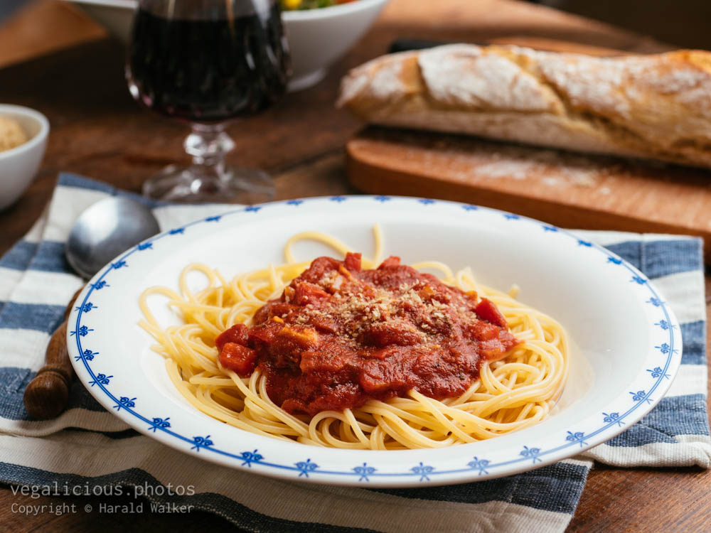 Stock photo of Spaghetti with tomato sauce