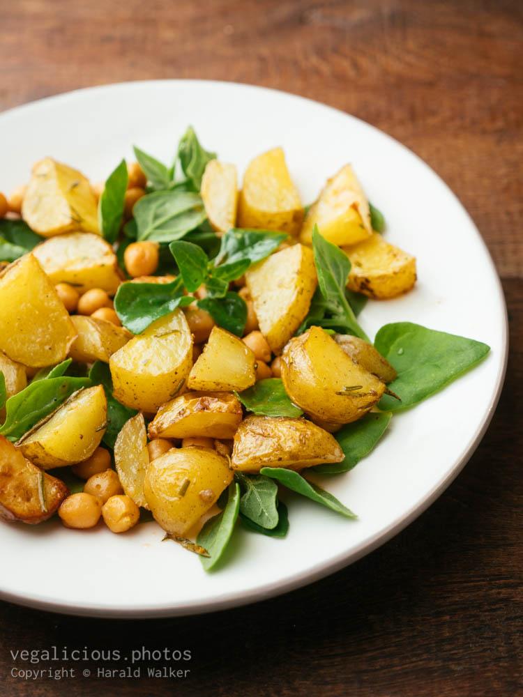 Stock photo of Warm potato salad