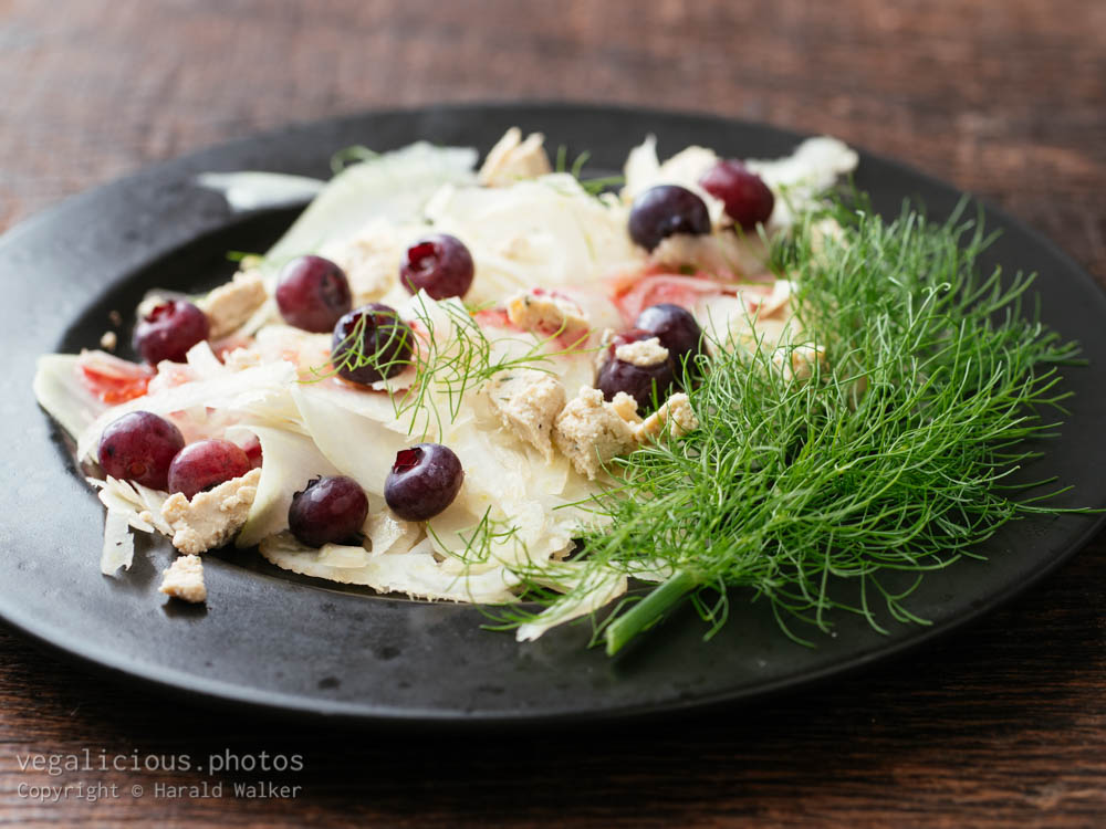 Stock photo of Kohlrabi, Fennel Salad with Blueberries
