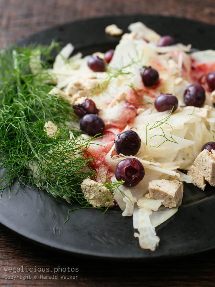 Stock photo of Kohlrabi, Fennel Salad with Blueberries
