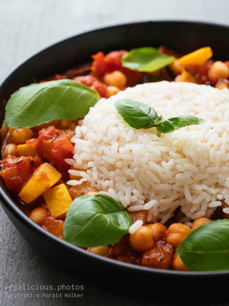 Stock photo of Eggplant and Chickpea Stew
