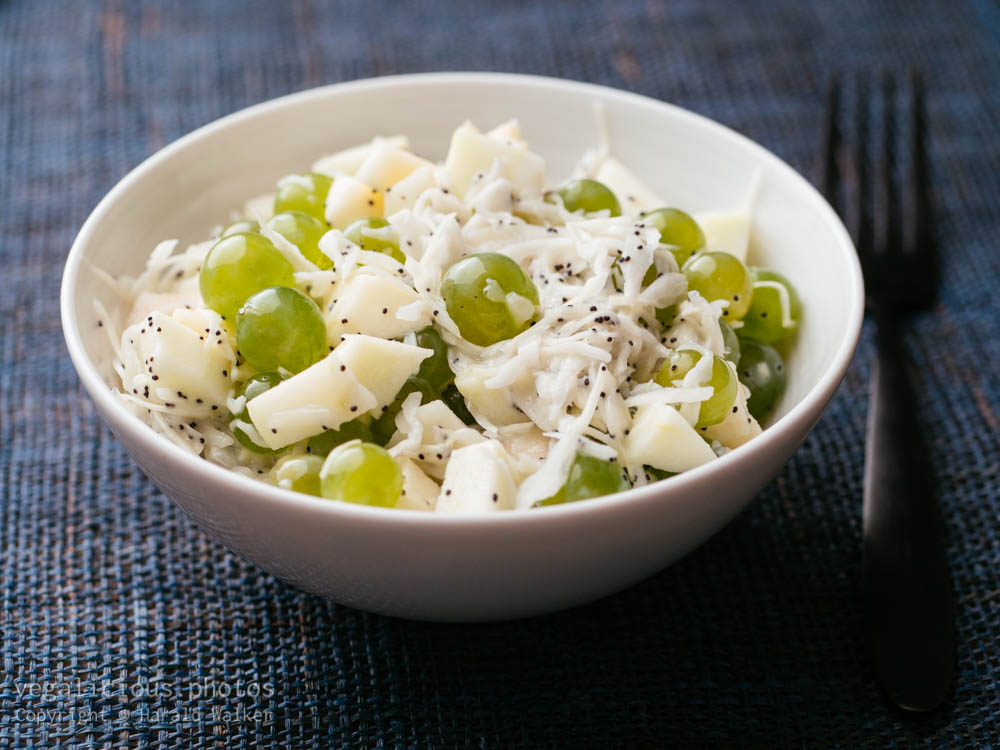 Stock photo of Coleslaw with Apples and Grapes