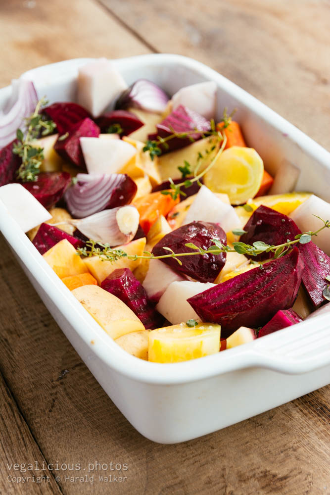 Stock photo of Oven roasted fall vegetables
