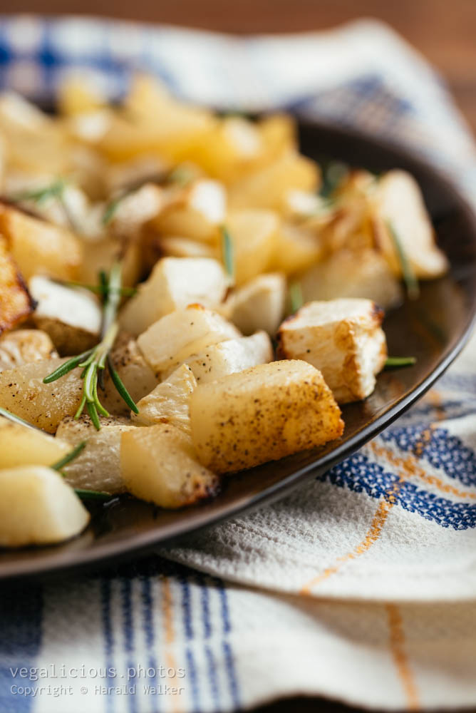 Stock photo of Roasted Turnips and Pears