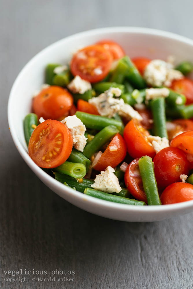 Stock photo of Green Bean and Cherry Tomato Salad