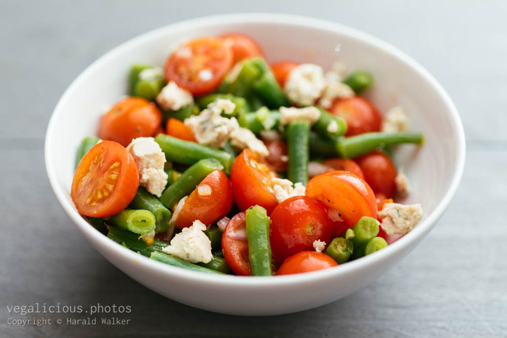 Stock photo of Green Bean and Cherry Tomato Salad