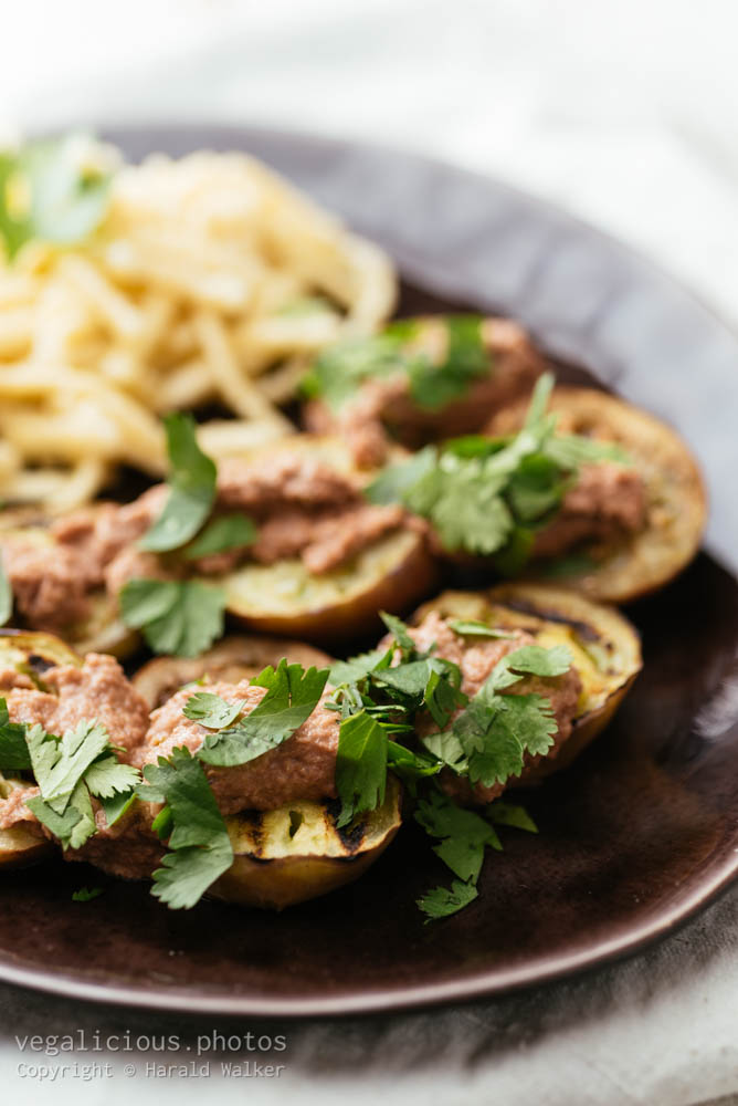 Stock photo of Grilled Eggplant with Walnut Sauce