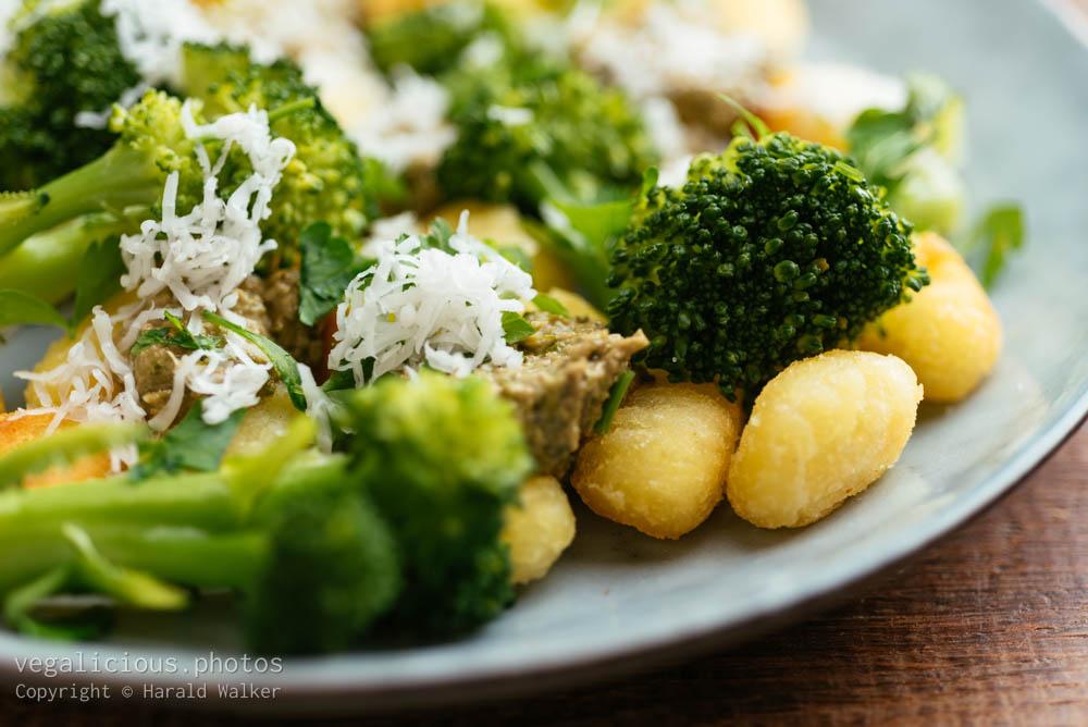 Stock photo of Gnocchi with Broccoli and Basil Pesto