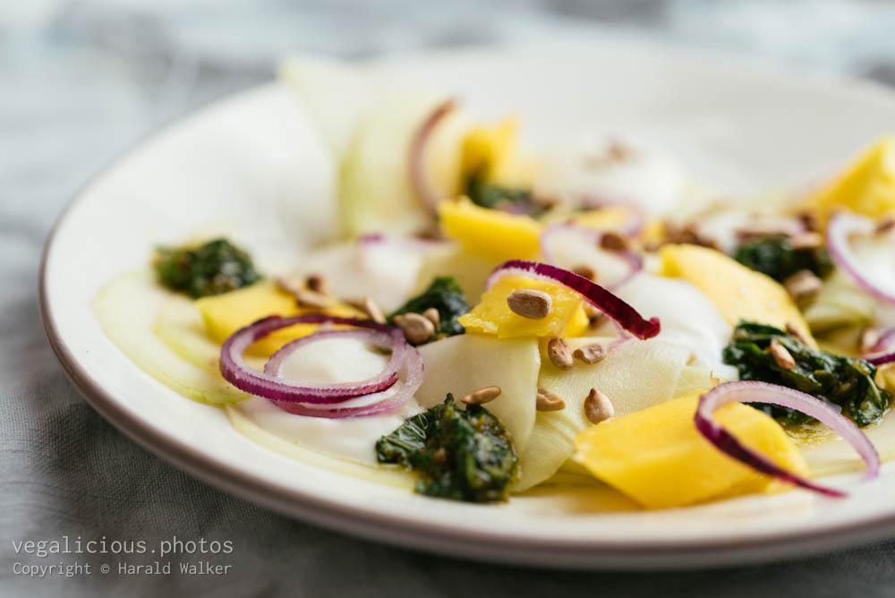 Stock photo of Marinated Kohlrabi and Mango Salad