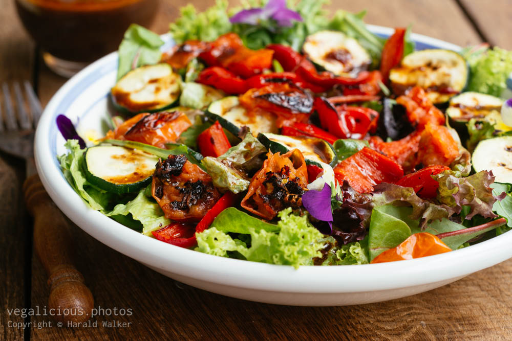 Stock photo of Roasted vegetables salad