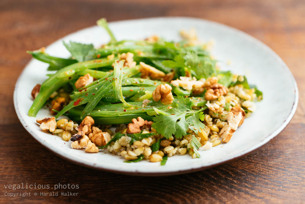 Stock photo of Freekeh with Green Beans and Herbs