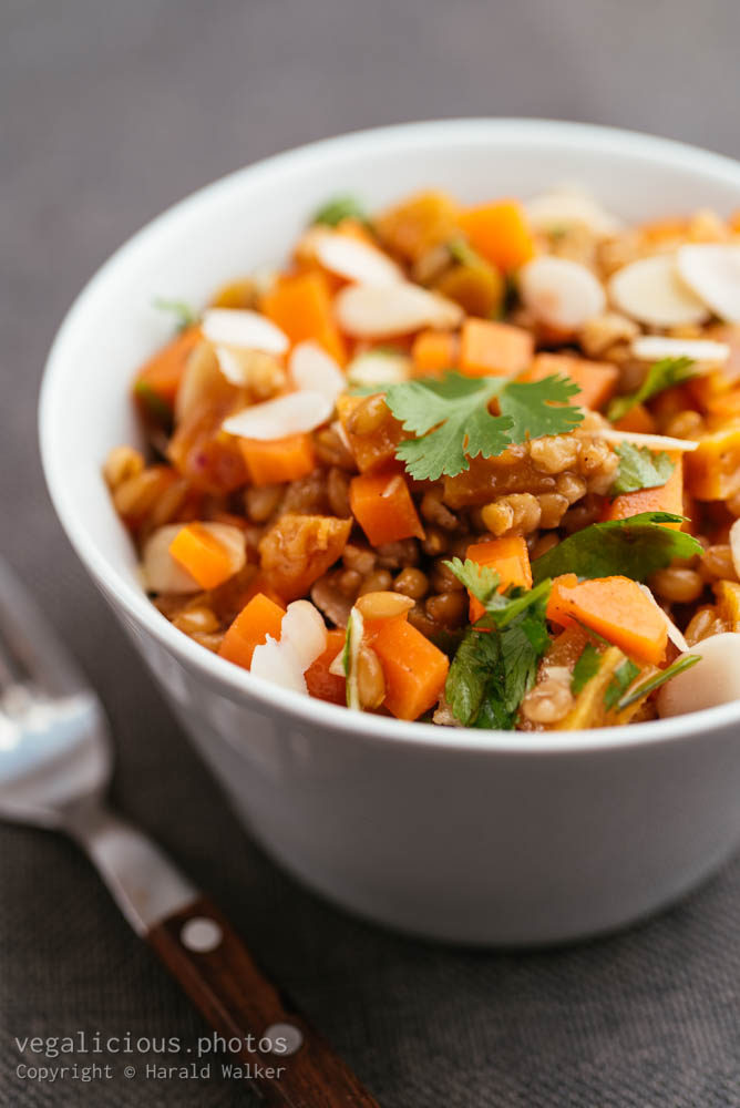 Stock photo of Cinnamon Soaked Wheat Berry Salad