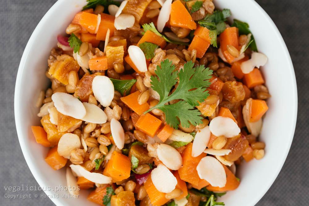 Stock photo of Cinnamon Soaked Wheat Berry Salad