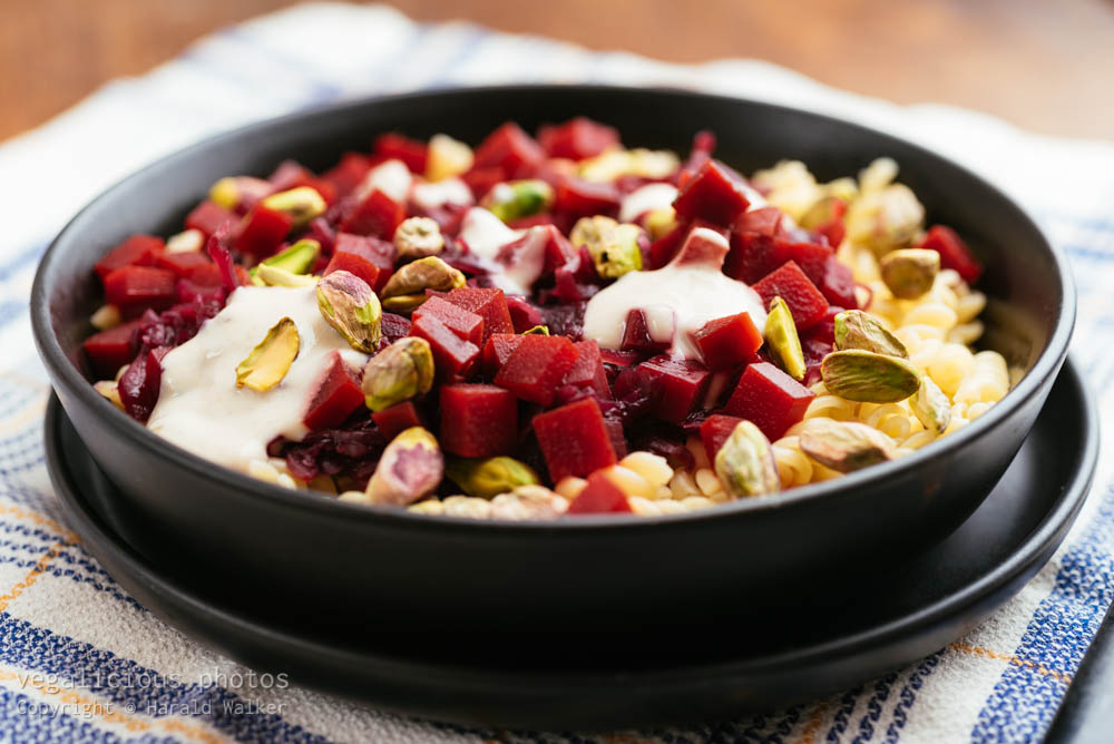 Stock photo of Beets and Red Cabbage on Pasta