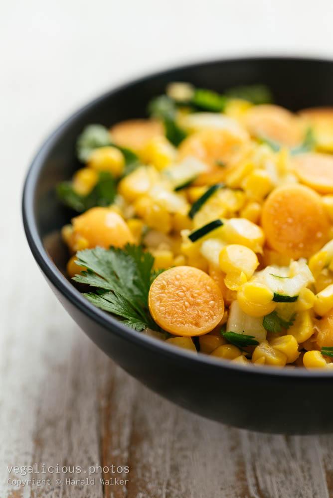 Stock photo of Corn and Physalis Salad
