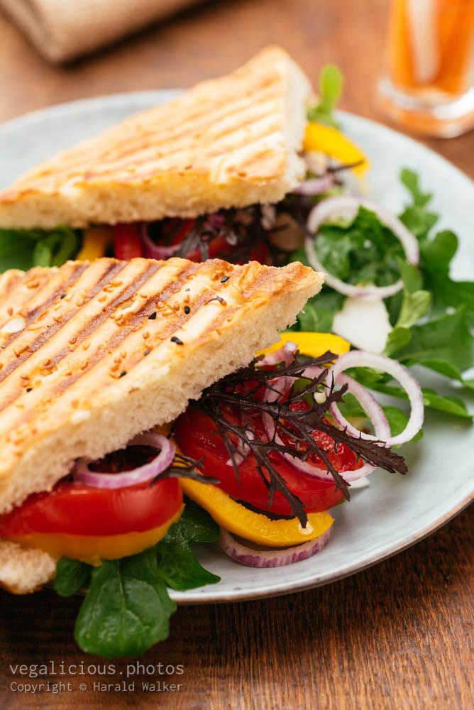 Stock photo of Turkish bread sandwich