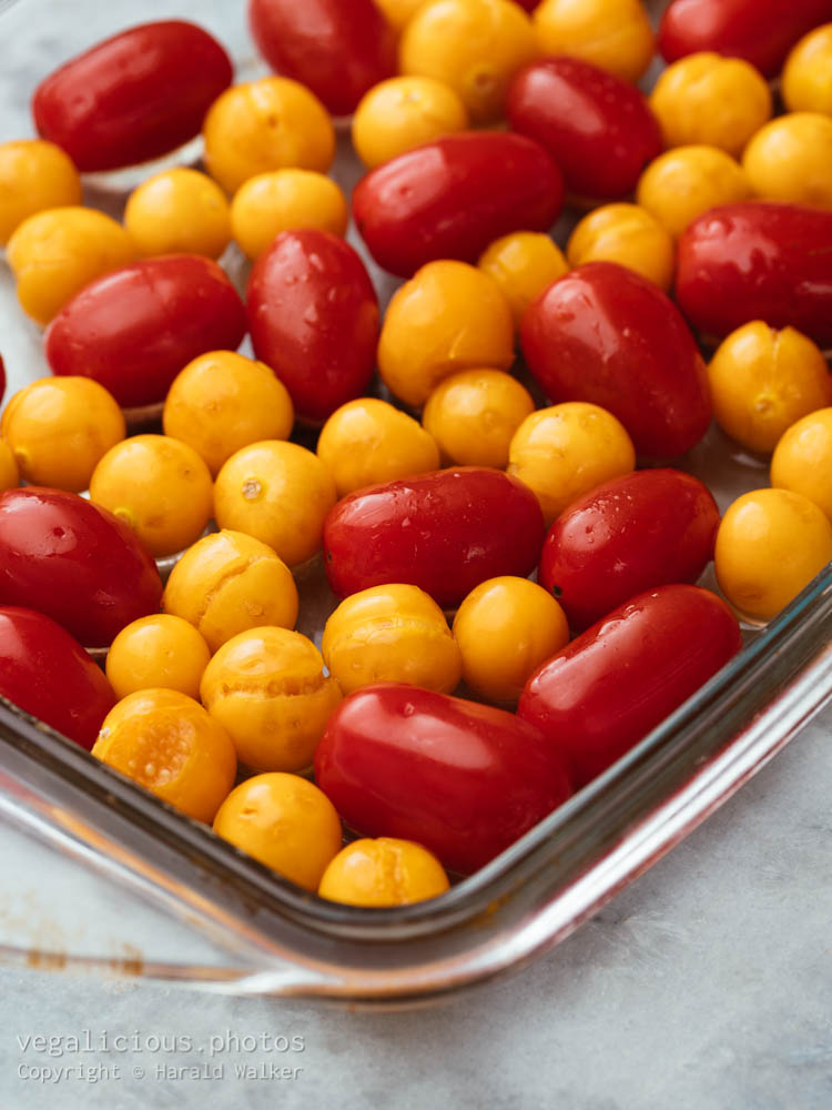 Stock photo of Cherry tomatoes and physalis
