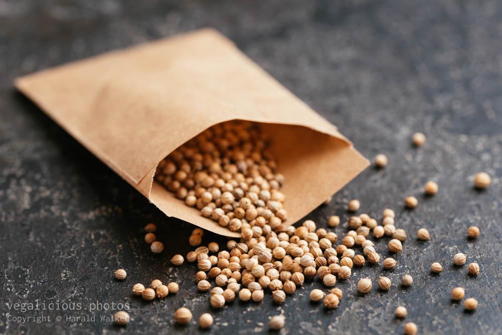 Stock photo of Coriander seeds