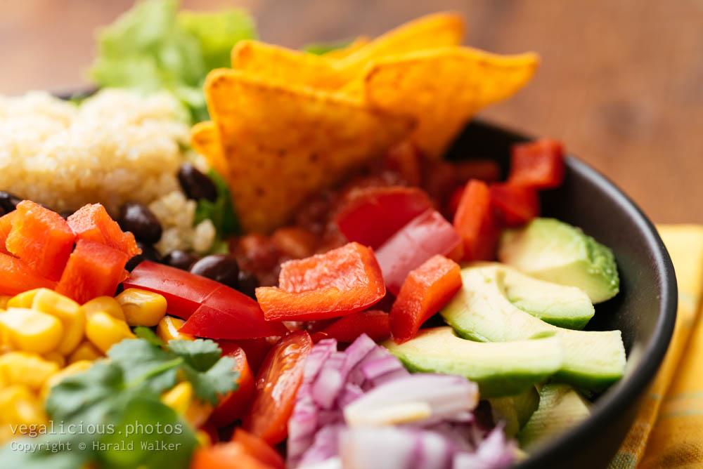 Stock photo of Black bean, Quinoa Bowl