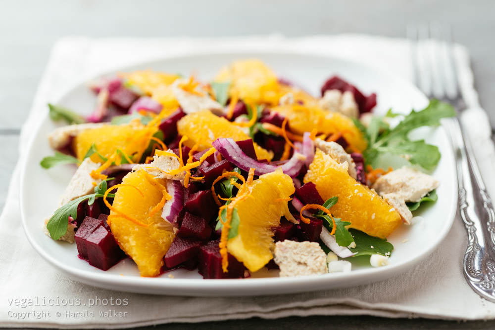 Stock photo of Beet Salad with Oranges and Arugula