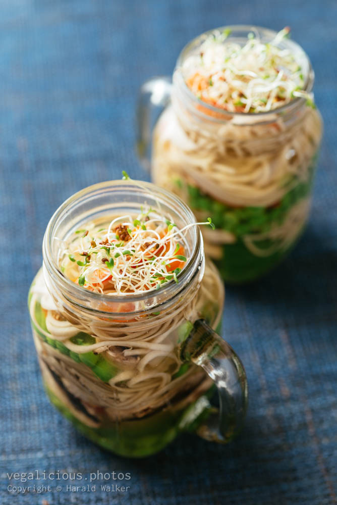Stock photo of Asian soup in a jar
