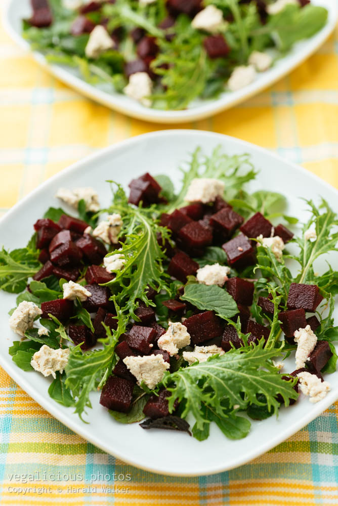 Stock photo of Beet and Arugula Salad
