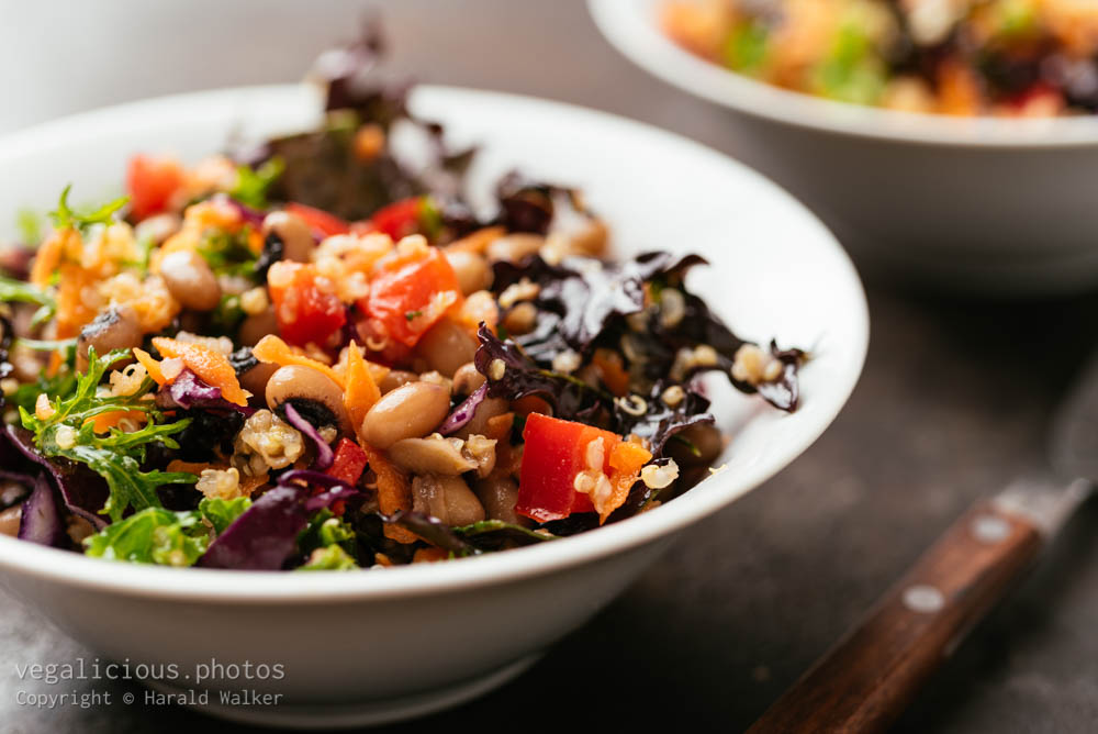 Stock photo of Colorful black-eyed pea and quinoa salad