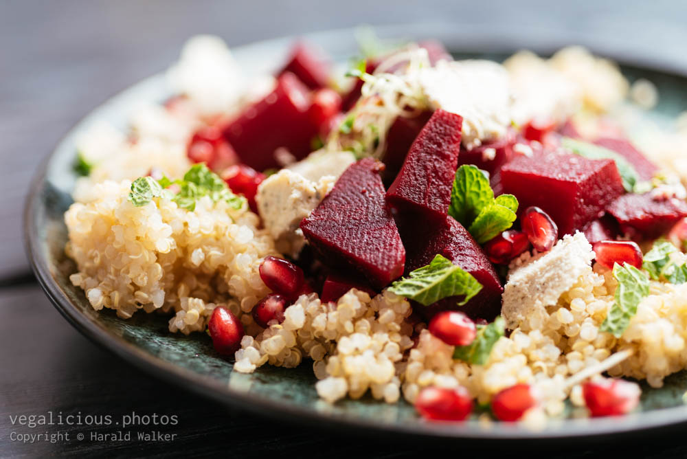 Stock photo of Quinoa beet salad