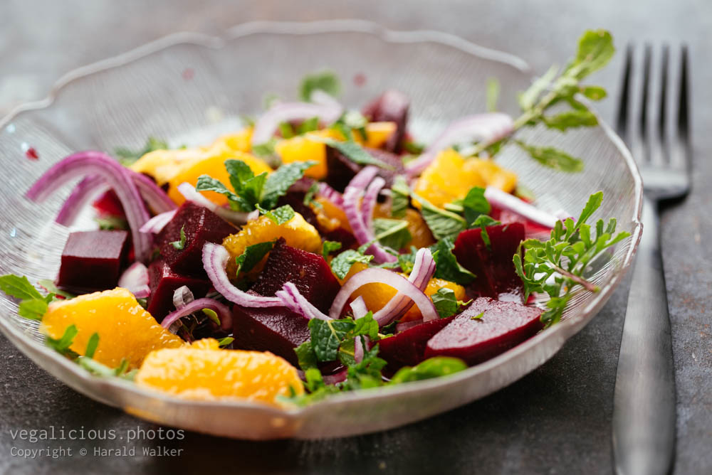 Stock photo of Beet and Orange Salad with Mint