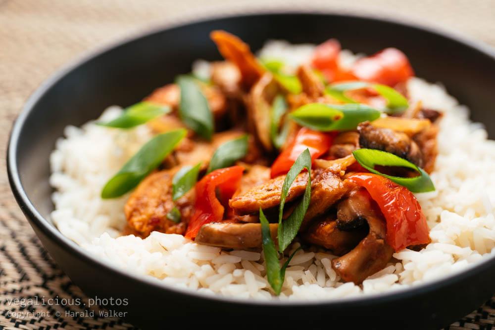Stock photo of Kung Pao Chickun and Mushrooms