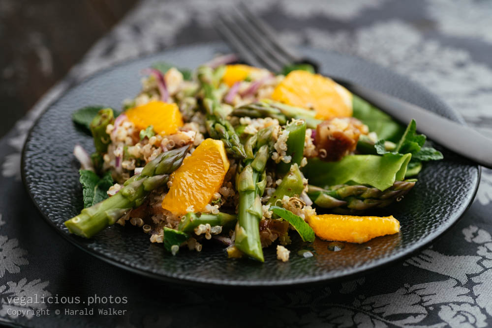 Stock photo of Asparagus, Quinoa Salad with Orange and Dates