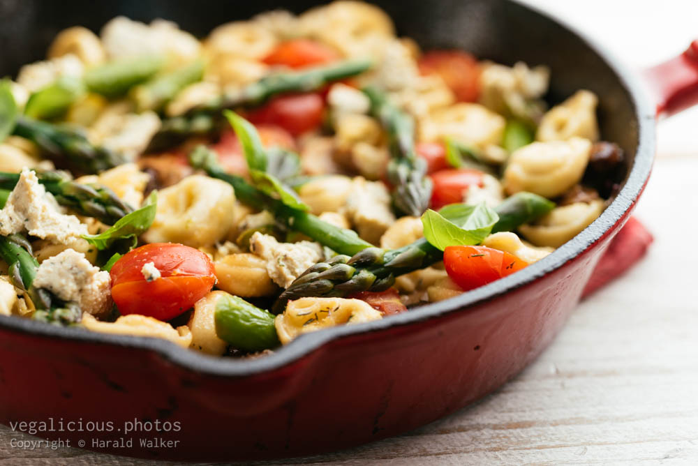 Stock photo of Vegetable Tortellini with Asparagus and Mushrooms