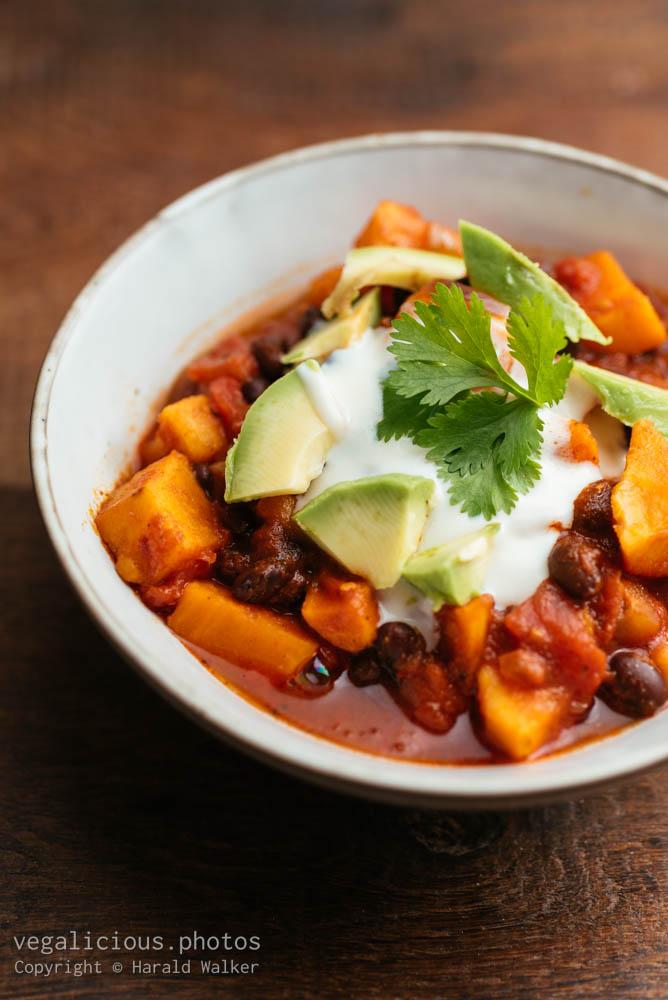 Stock photo of Sweet Potato Black Bean Chili