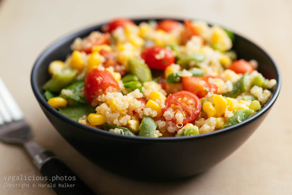Stock photo of Summer Vegetable Quinoa Salad
