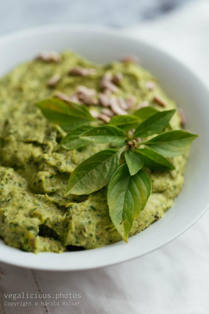 Stock photo of Basil, Spinach Hummus