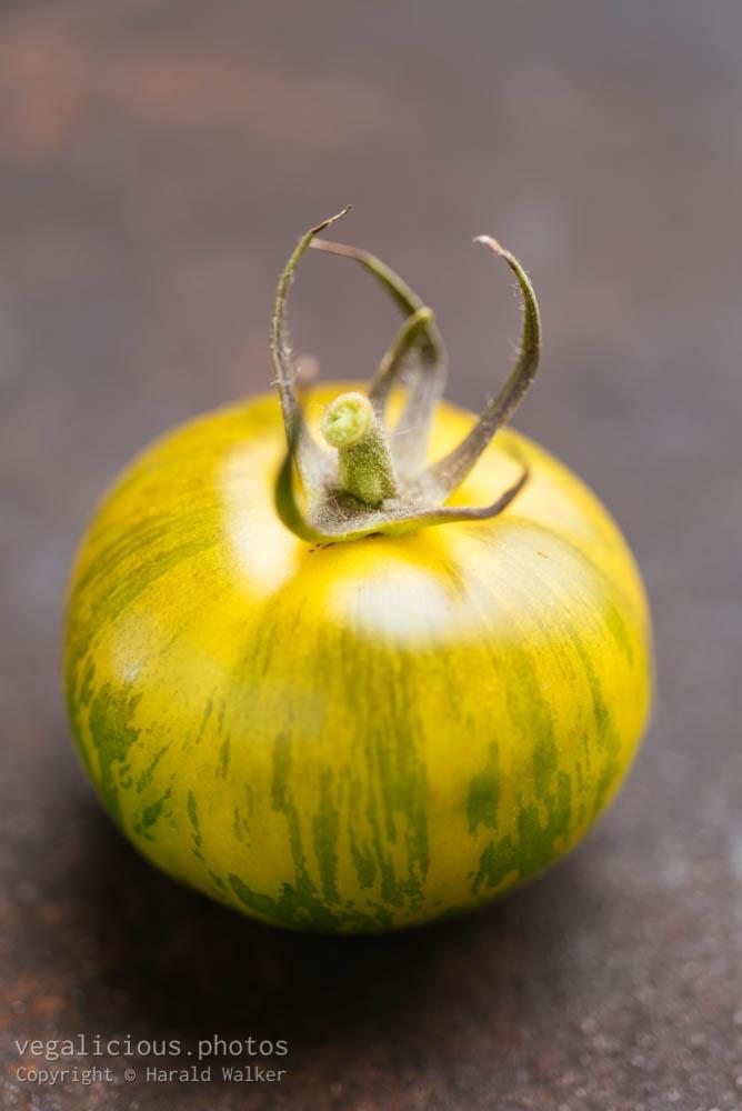 Stock photo of Tigerella tomato